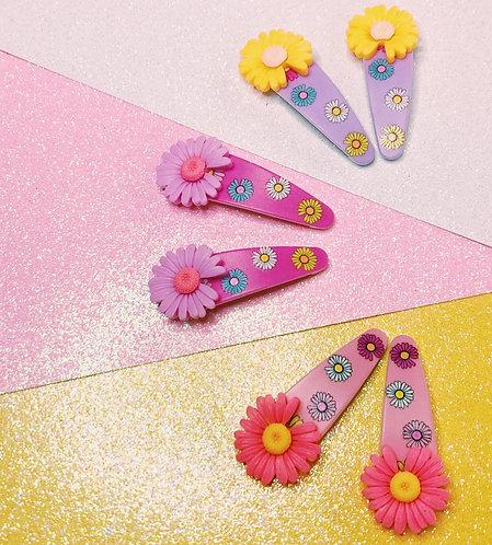 Daisy Hair Clip Sets