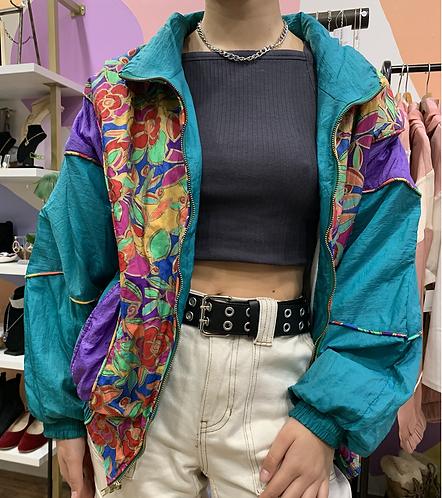 Vtg 80's G-Ma Windbreaker Jacket, Sz M