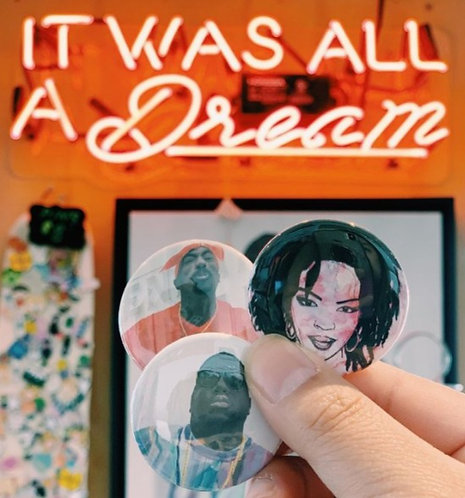 Legends Button Pin