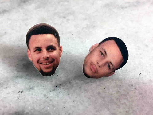 """Steph Curry"" Earrings"