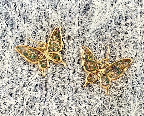 Pressed Flowers Butterfly Earrings