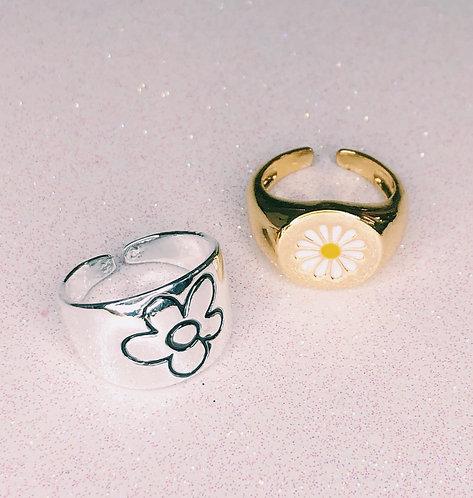 Chunky Daisy Rings