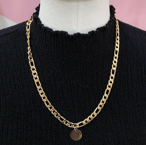 Coin Cuban Link Necklace