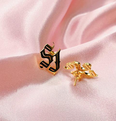"""""""SJ"""" Classic Loot Exclusive 18K Stud Earrings"""