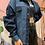 Thumbnail: Denim Block Jean Button Up Jacket