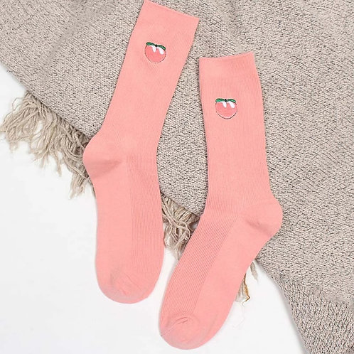 High Sweet Peach Socks
