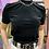 Thumbnail: Zara Black Velvet Mock Neck Top, Sz S