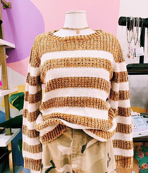 Chunky Mustard Knit Sweater