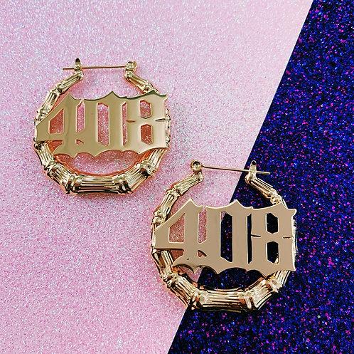 """Exclusive """"408"""" Mini Bamboo Earrings"""