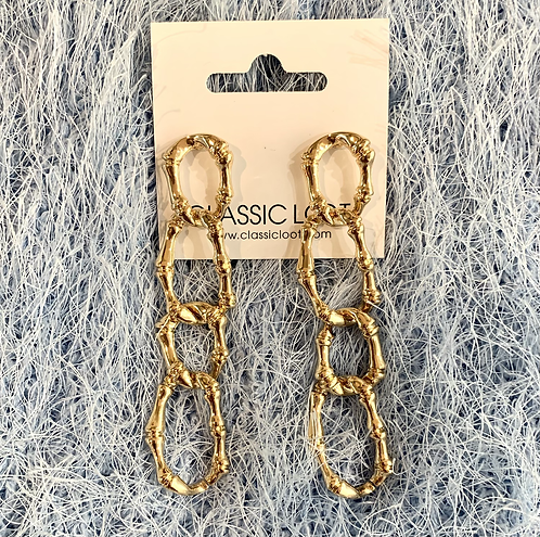 Bamboo Links Earrings