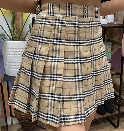 """Burberry"" Plaid Skirt- Sz M"