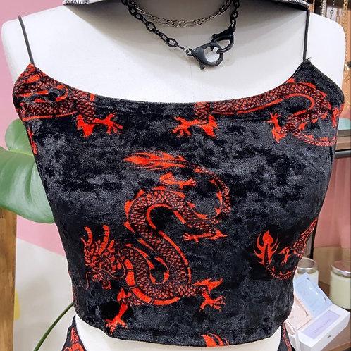 Velvet Dragon Crop Top