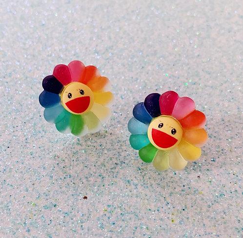 Takashi Murakami Flower earrings