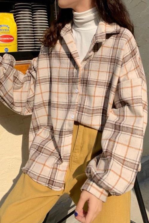 Oversize Peanut Brown Flannel