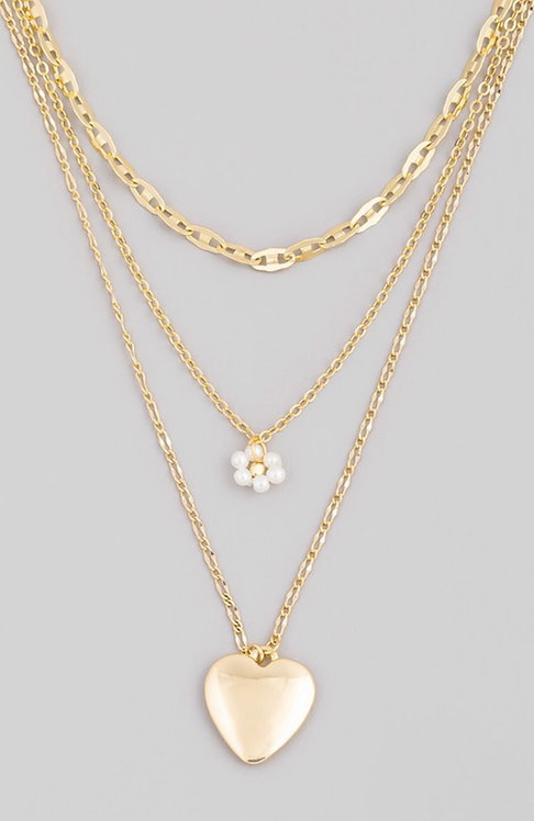 Love Layered Chain Necklace