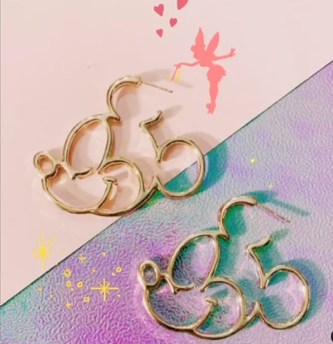 Gold Mickey Mouse Hoops