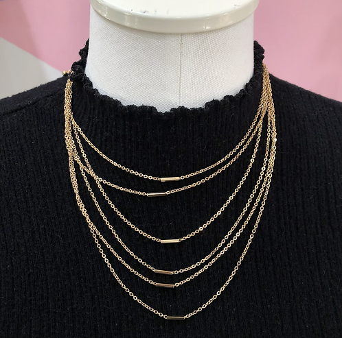 Gold Dainty Layered Necklace