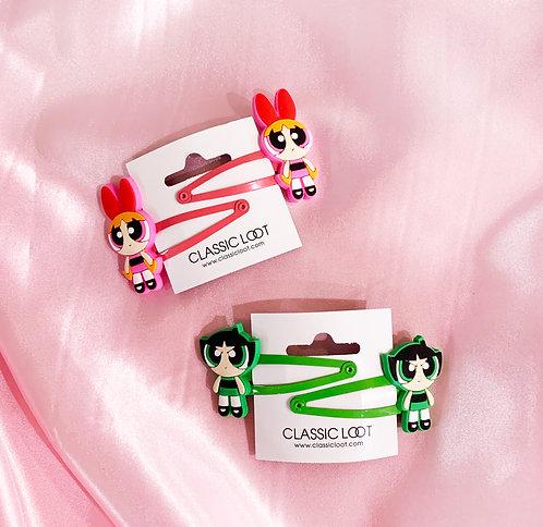 Powerpuff Girls Hair Clips
