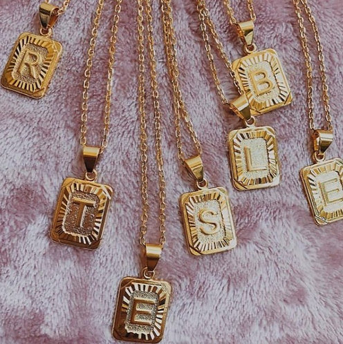 Initial Gold Plated Necklace