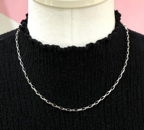Silver Mini Chain Link Necklace