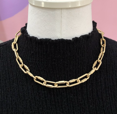 Link Gold Choker Chain
