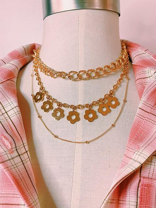 Daisy Tri-Layer Necklace