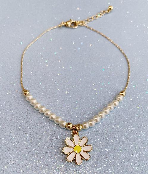 Daisy Pearl Ankle Bracelet