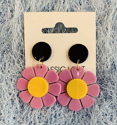Daisy Acrylic Dangles