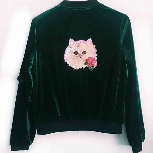Grandma Kitty Emerald Bomber