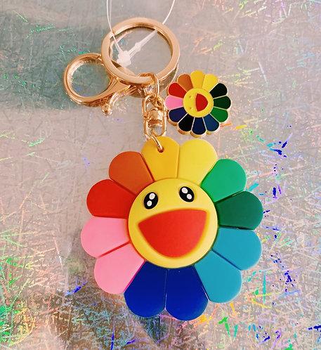 Takashi Murakami Flower Keychain