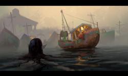 boat mermaid