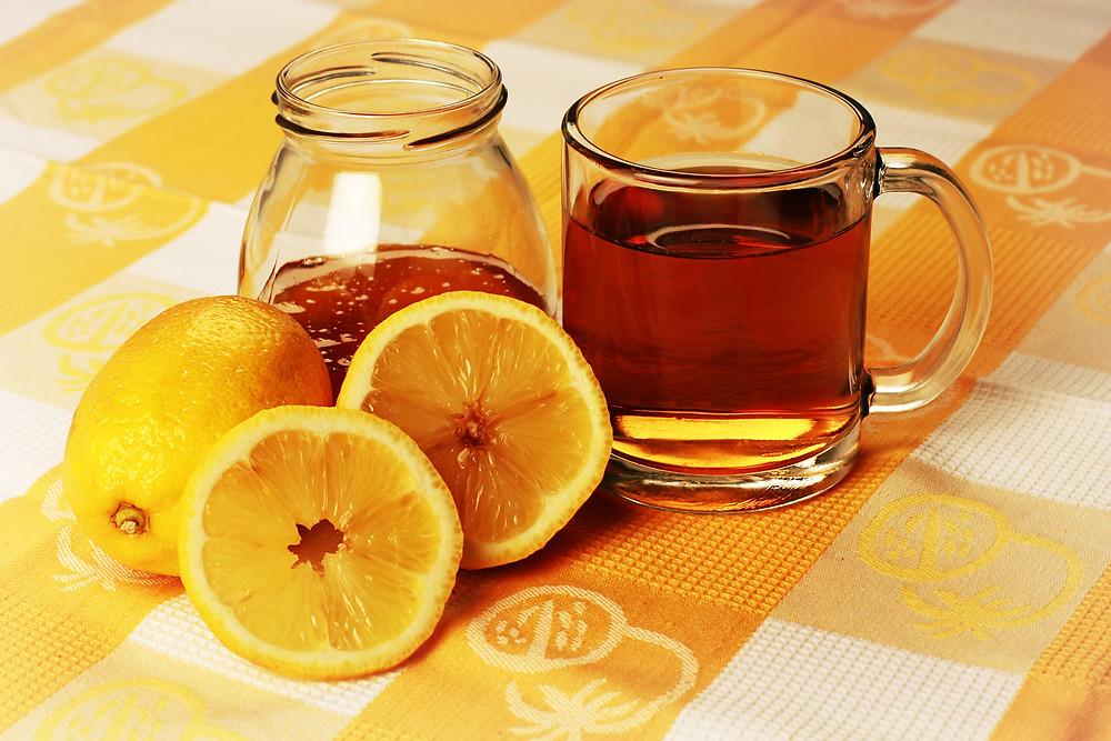 Lemon turmeric tea