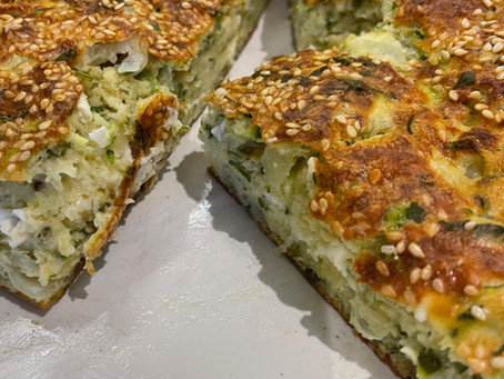 Courgette and Feta Bake