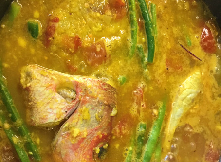 Red Snapper Curry with Green Beans