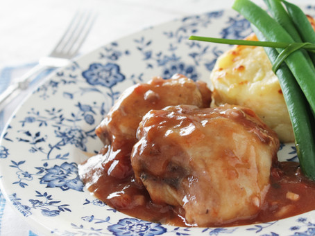 Slow Cooked Lamb Shanks Bourguignon