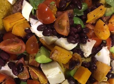 Sweet Potato, Black Bean & Avocado Nachos
