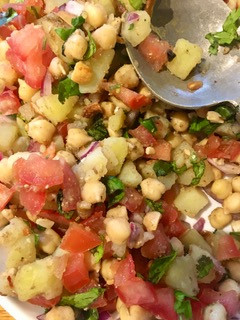 Potato, Chickpea and Cashew Chaat