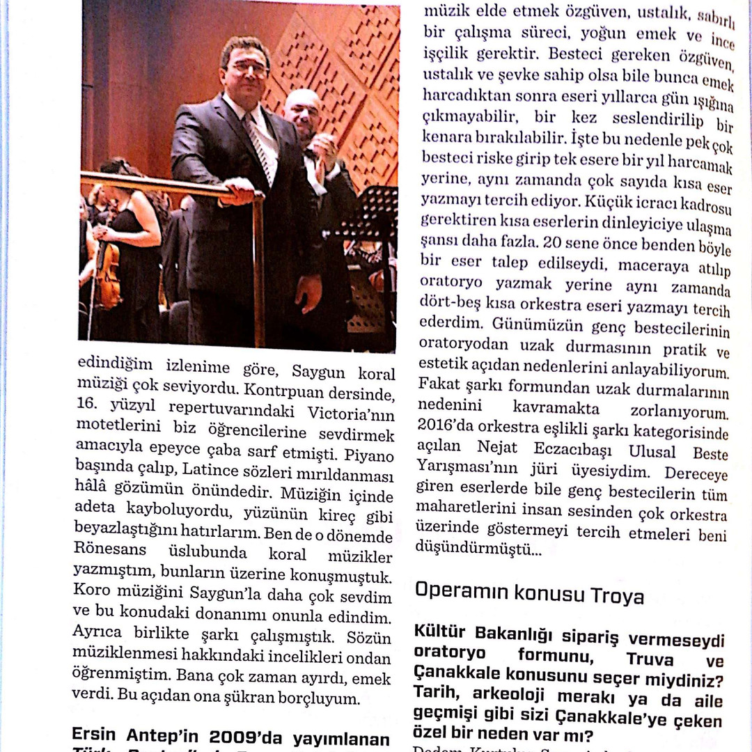 Röportaj Serhan Yediğ Andante Haziran