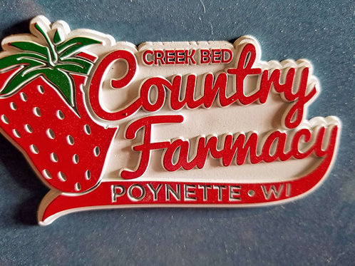 Creek Bed Country Farmacy Refrigerator Magnet