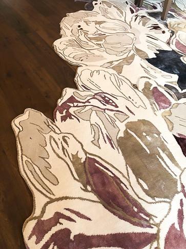 custom designed cut out rug
