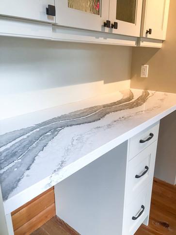 marble desk design