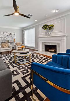 Living room for entertaining