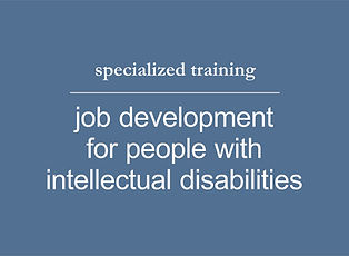 job development for people with intellec