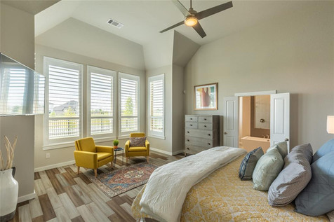 Master Bedroom Staged in TX