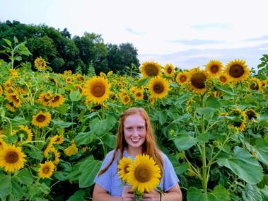 Sunflower selfies