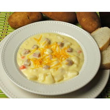 Cheddar Baked Potato with Ham Soup $4.99