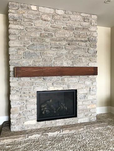 custom stone fireplace design