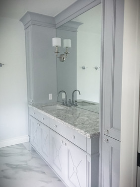 Custom bathroom counter