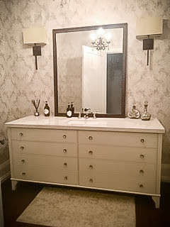 Vintage vanity bathroom