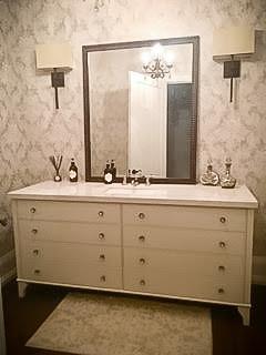 Vintage vanity bathroom